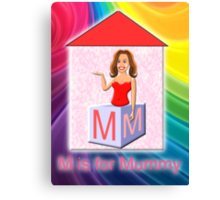 M is for Mummy Playbrick Canvas Print