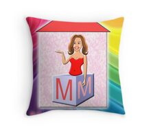M is for Mummy Playbrick Throw Pillow