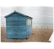 Beach hut at Kingsdown Poster