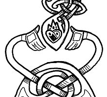 Claddagh Design - B&W by Meredith Nolan