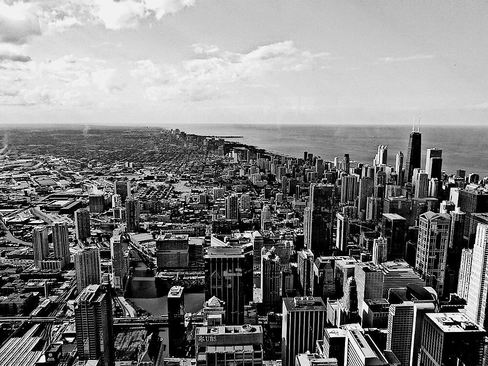 Chicago From The Skydeck at the Sears Tower  by KenyaQ36