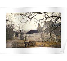 Farmyard in Brittany Poster