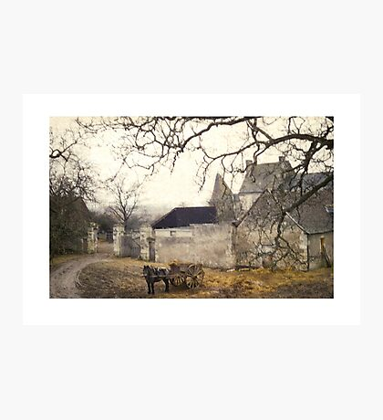 Farmyard in Brittany Photographic Print