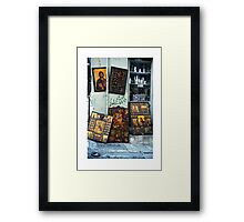 Icons in Athens Framed Print
