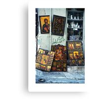 Icons in Athens Canvas Print