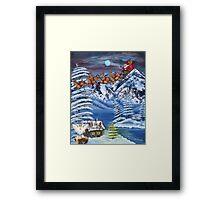 Wilderness Christmas Santa Framed Print