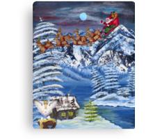 Wilderness Christmas Santa Canvas Print