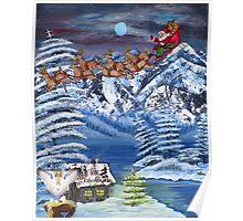 Wilderness Christmas Santa Poster