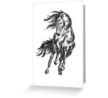 Sumi-e Horse Greeting Card