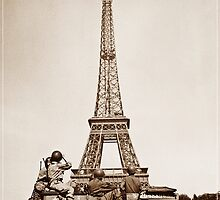 Vintage Eiffel-Tower by franceslewis