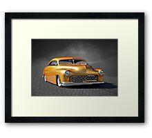 1950 Mercury Custom on B/W Framed Print