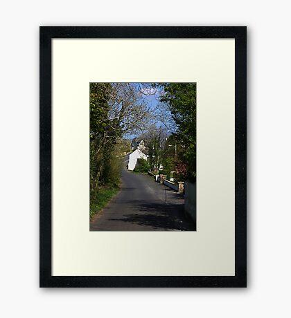 Irish country road Framed Print