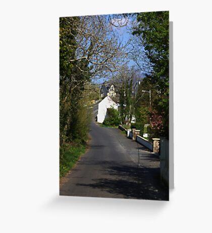 Irish country road Greeting Card