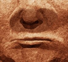 Trump Easter Island Head Sticker