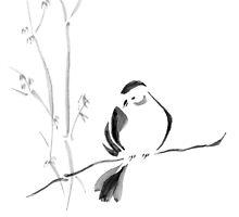 Sumi-e Bird by FarynHughes