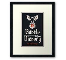 Team Rocket Poster Framed Print