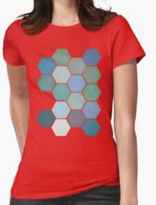 Shades of Blue Womens Fitted T-Shirt