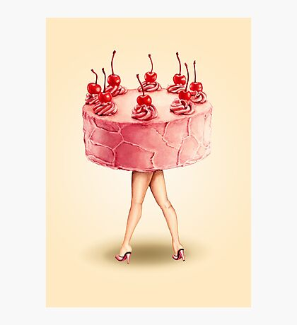 Hot Cakes - Cherry Photographic Print