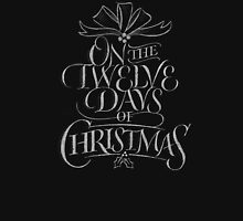 Chalkboard Lettering '12 Days of Christmas' Elegant Modern Chalk Carol T-Shirt