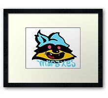 mapache 100% COLOR Framed Print