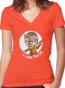 Lucca (dark shirt) Women's Fitted V-Neck T-Shirt