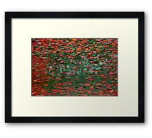 Underwater Abstract Gallery - Piece 11 (Red and Green) Framed Print