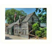 The Oldest Wood School House in The USA - St. Augustine, Florida.  Art Print