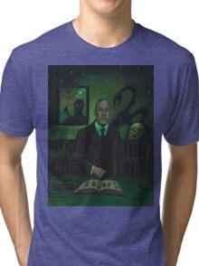 HP Lovecraft Portrait Tri-blend T-Shirt