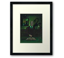 HP Lovecraft Portrait Framed Print