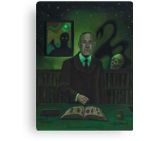 HP Lovecraft Portrait Canvas Print