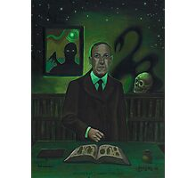 HP Lovecraft Portrait Photographic Print