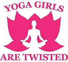 Yoga Girls Are Twisted Photographic Print