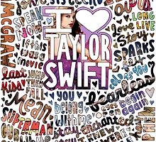 Taylor Swift Song Photo Collage by lyrics-and-such