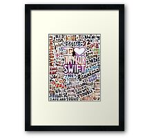 Taylor Swift Song Photo Collage Framed Print