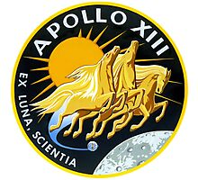 Apollo 13 Mission Logo Photographic Print