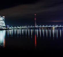 Bridge at evening by Gundars Helds