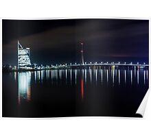 Bridge at evening Poster