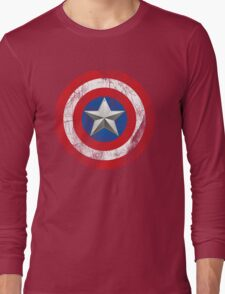 Cap America Shield with star Long Sleeve T-Shirt