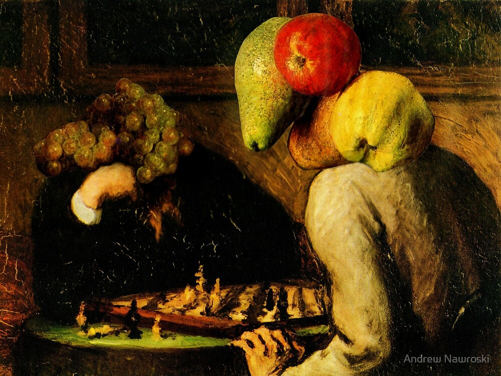 Two Fruits Playing Chess. by Andreav Nawroski