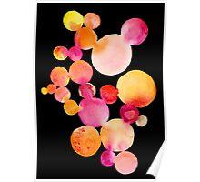 Citrus bubbles on black Poster