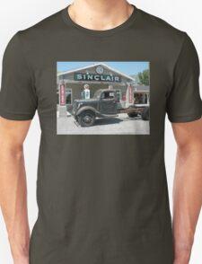 Vintage Truck at Vintage Sinclair Station Unisex T-Shirt