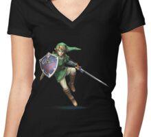 Zelda Link Women's Fitted V-Neck T-Shirt