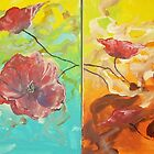 Abstract Poppy Painting by Raymond Doward