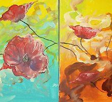 Abstract Poppy Painting by Raymond Doward