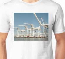 Shipping cranes at the Port of Oakland Unisex T-Shirt