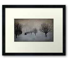 Winter's Work Framed Print