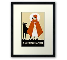 Naive Art Deco Little Red Riding Hood Framed Print
