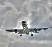 American Airline landing at Fort Lauderdale in Florida by Jeremy Lavender Photography