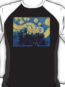 Dr Who Hogwarts Starry Night T-Shirt