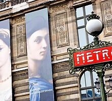 Paris Metro and Louvre by David Mapletoft